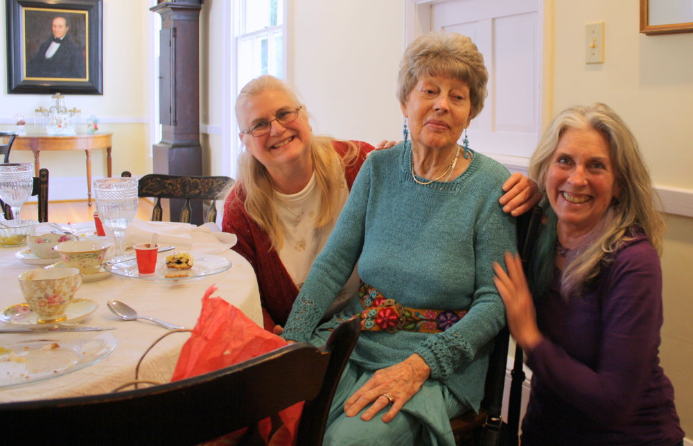 Flo Gibson (center) shown here with two of her children: daughter Kathy Maloney (L) and Shirley McClelland (R).