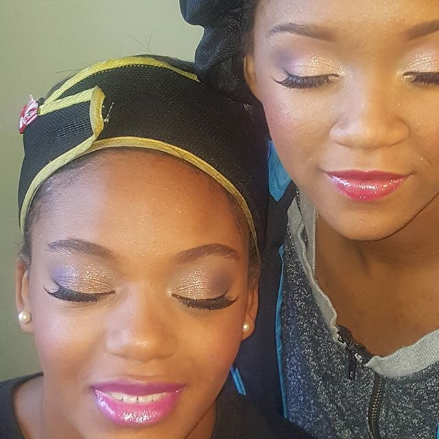 These two are so gorgeous!!! Ready for there big day! #airbrushmakeupartist #indyartist #aeroblendairbrush #beautiful #beat #indymua #gorgeous