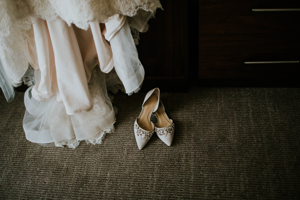 fun fact: accidentally left my shoes in the hotel room and never wore them on wedding day lol