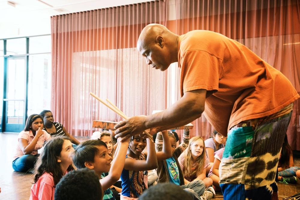 S-Ankh Rasa teaches Drum Orchestra