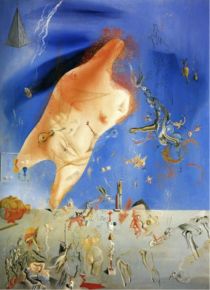( Little Ashes , painting Salvador Dali, 1928.   Lorca's likeness can be seen in the bottom right quadrant, one of many Dali works in which the poet appears in some fashion.)