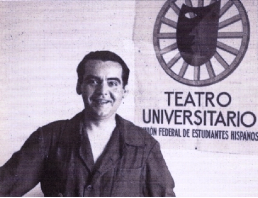 "(Lorca, in his uniform as director of ""La Barraca"", 1931)"