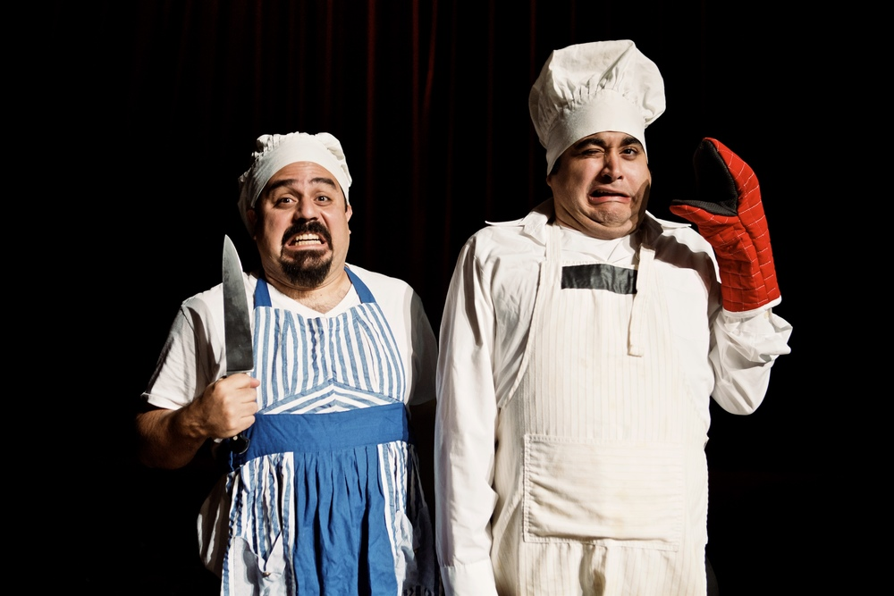 David Lozano & Ruben Carrazana in  Gog and Magog: Two Clowns Trapped In Hell . Photo Credit: Adolfo Cantú-Villarreal - TZOM Films