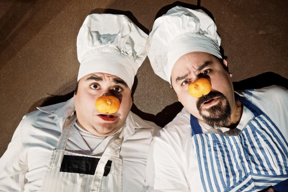 Ruben Carrazana & David Lozano in Gog and Magog: Two Clowns Trapped In Hell. Photo Credit: Adolfo Cantú-Villarreal - TZOM Film