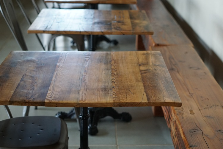 Client Spotlight Wood Stack Pizza Kitchen Real Antique Wood