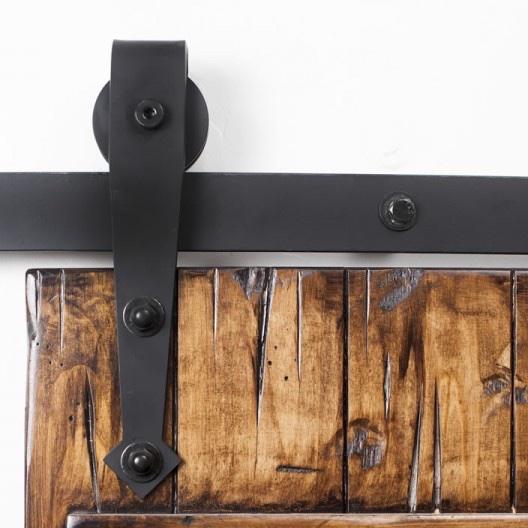 Real Antique Wood barn door hardware.