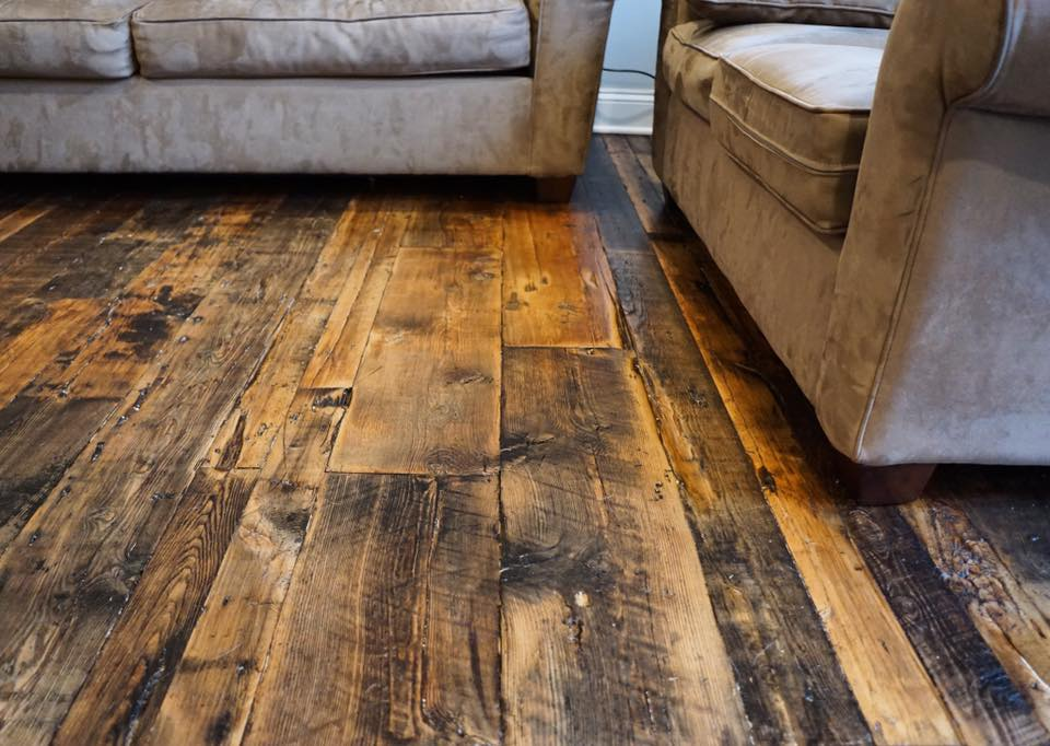 Real antique wood for Reclaimed hardwood flooring