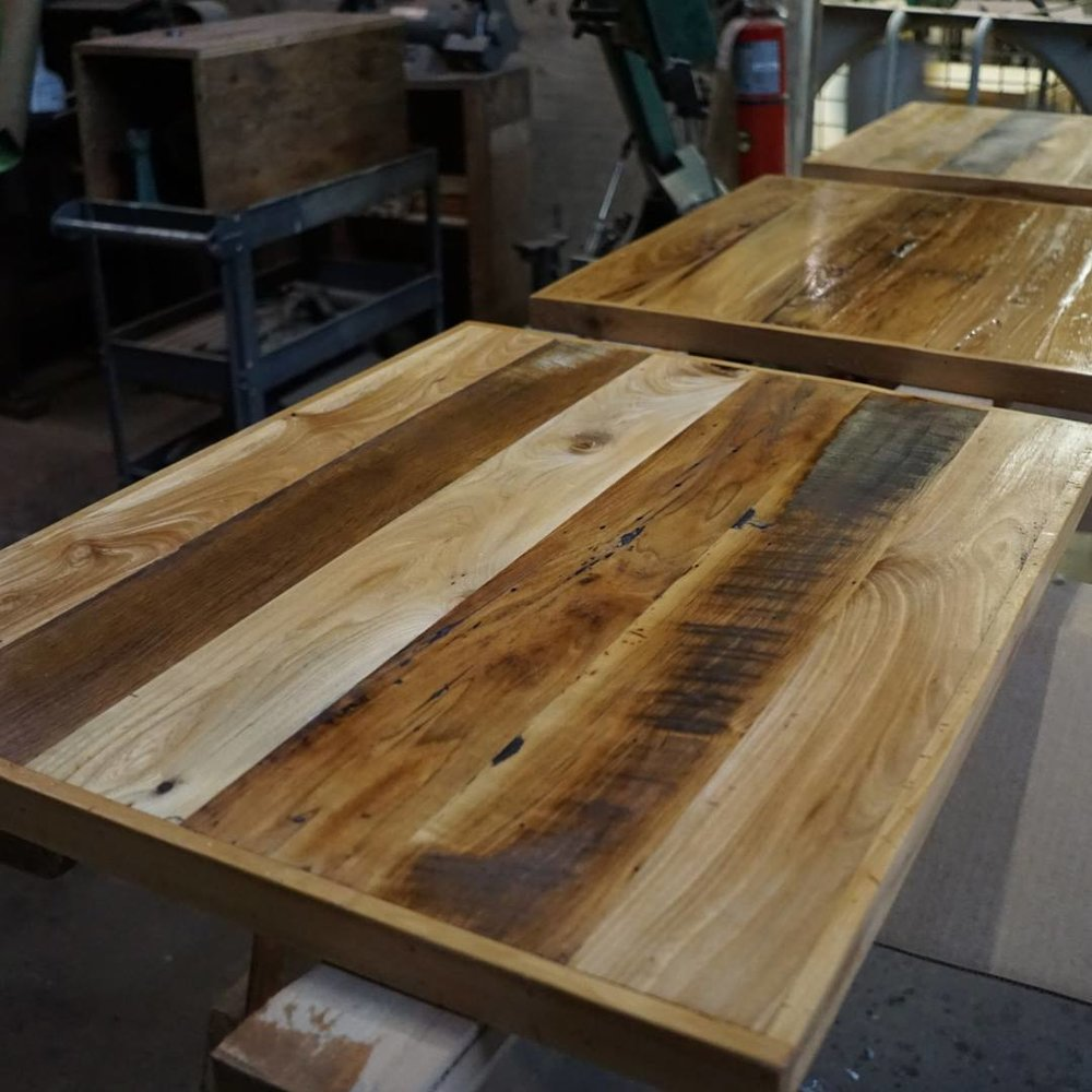 Reclaimed Mixed Hardwood Table