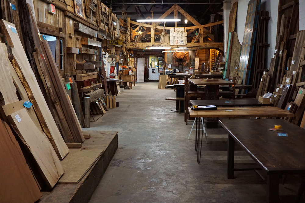 Real Antique Wood Showroom - High Res