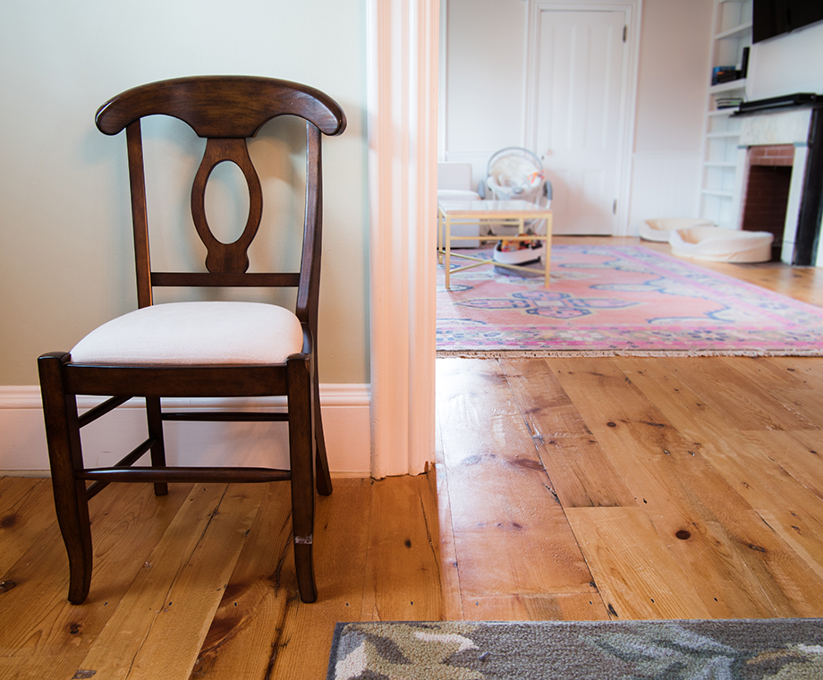 Reclaimed White Pine Floors