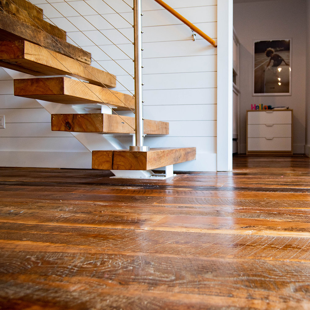 Harvest Reclaimed Floors and Reclaimed Beech Stair Treads