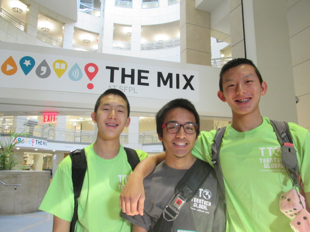 TeenTechSF Leaders Alex & AJ Qiu with Founder Marc Robert Wong