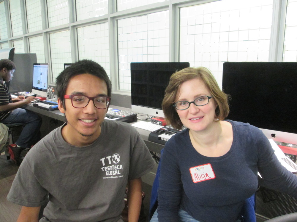 TeenTechSF Founder Marc Robert Wong and TTSF Civic Hack Mentor, Alicia Johnson SF Emergency Resilience & Recover Mgr