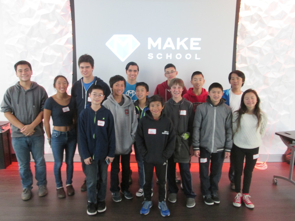 MakeSchool Game Design Workshop graduates at TeenTechSF Civic Hackathon
