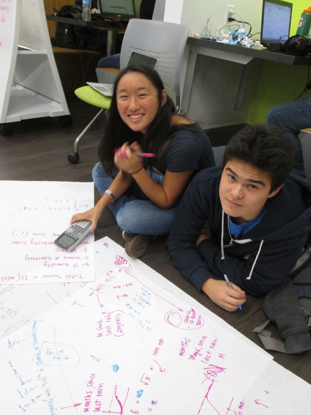 Getting down to it: working out algorithm at TeenTechSF Civic Hackathon
