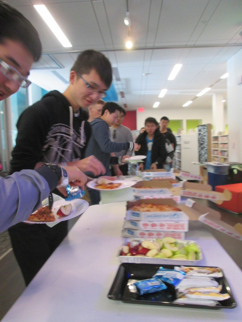 Hungry hackers @TheMixatSFP: Pizza is going...