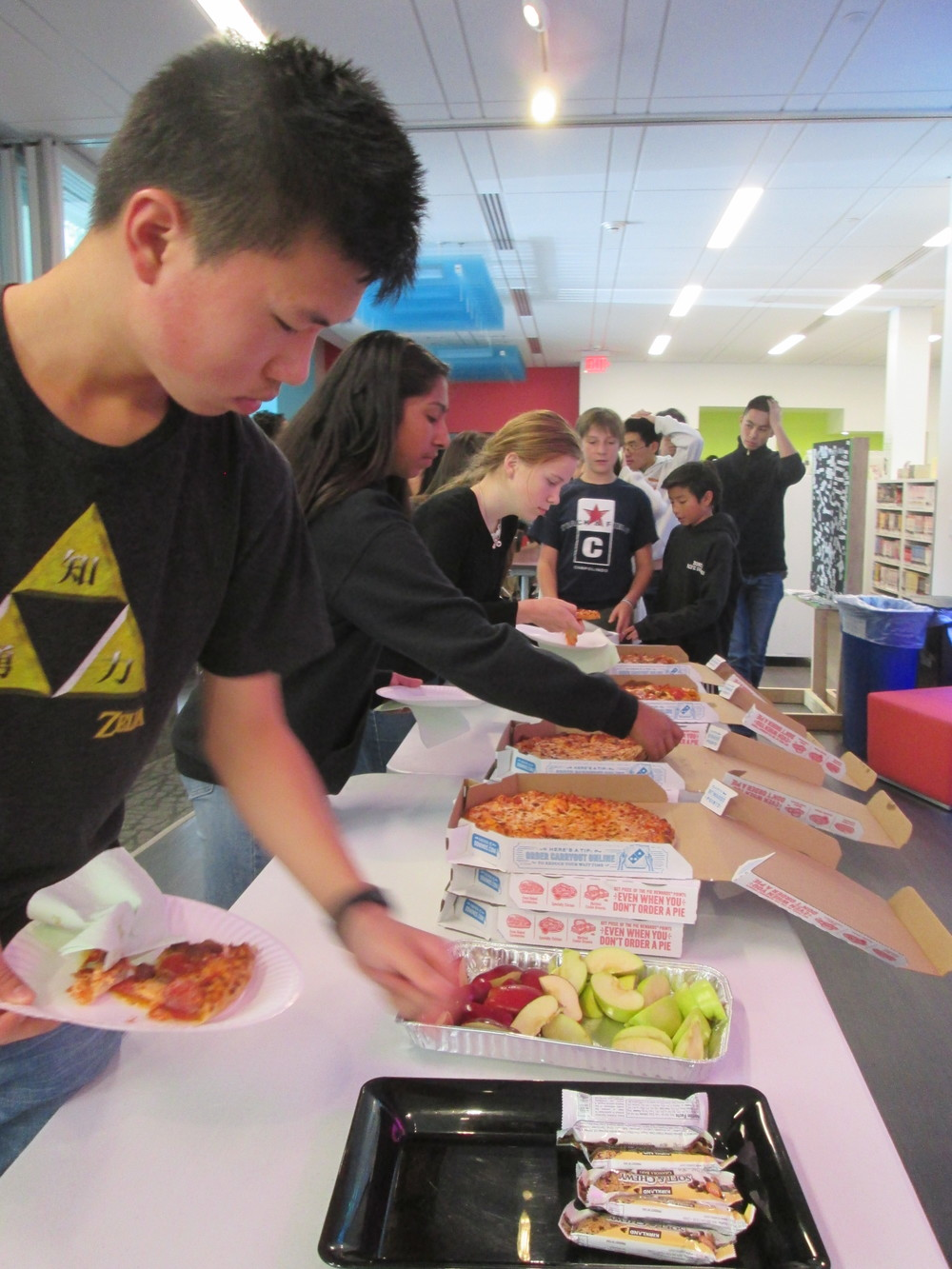 Hungry hackers @TheMixatSFPL: 148 slices served