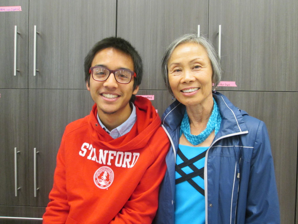 TTSF Founder & SFPL BAY Founding member Marc Robert Wong with TTSF Civic Hack Mentor Barbara Jue, Peace Corps volunteer with Technovation Team Moldova