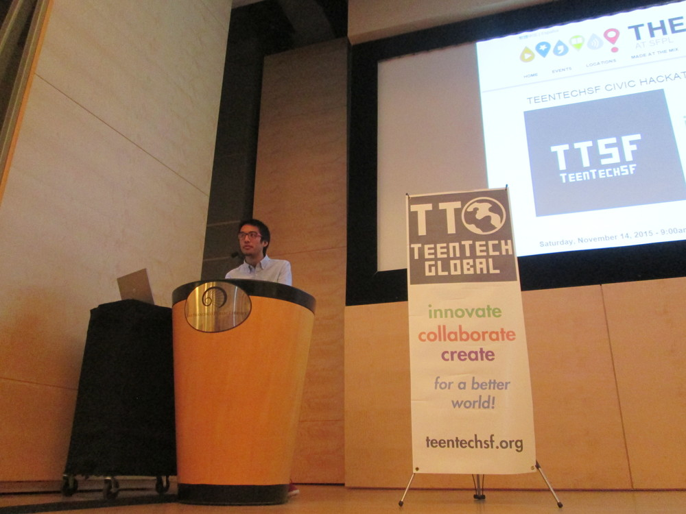 Closing ceremonies: TeenTechSF Founder and Global Chair, Marc Robert Wong