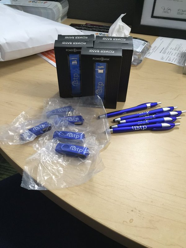 Finalists received personalized power banks, USB sticks, and convertible pen/computer stylus