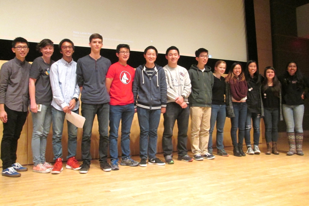 Finalists with TeenTechSF Founder and Global Chair, Marc Robert Wong