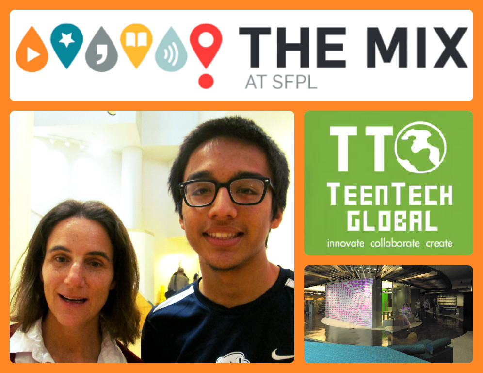 Event leaders: Cathy Cormier (SFPL Teen Librarian, The Mix Program Mgr) and Marc Robert Wong (TeenTechSF Founder & Global Chair, Founding Member TheMixatSFPL Board of Advising Youth