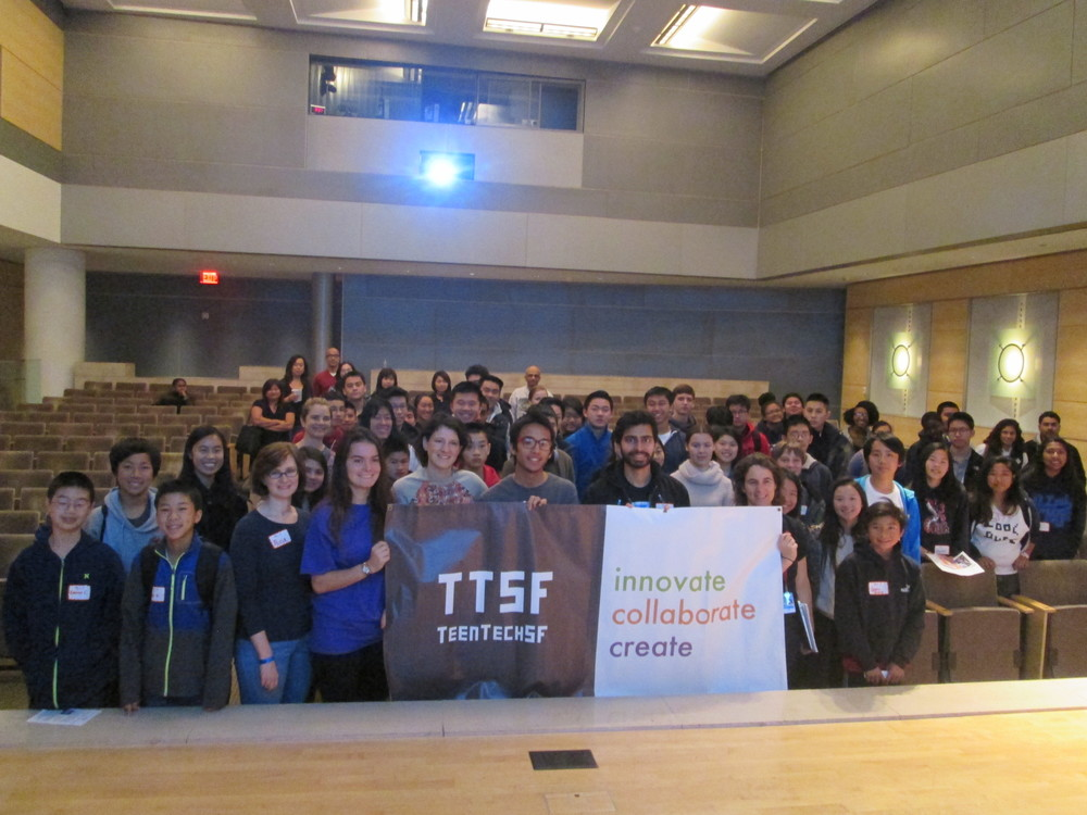 TeenTechSF Civic Hack Welcome Koret Auditorium