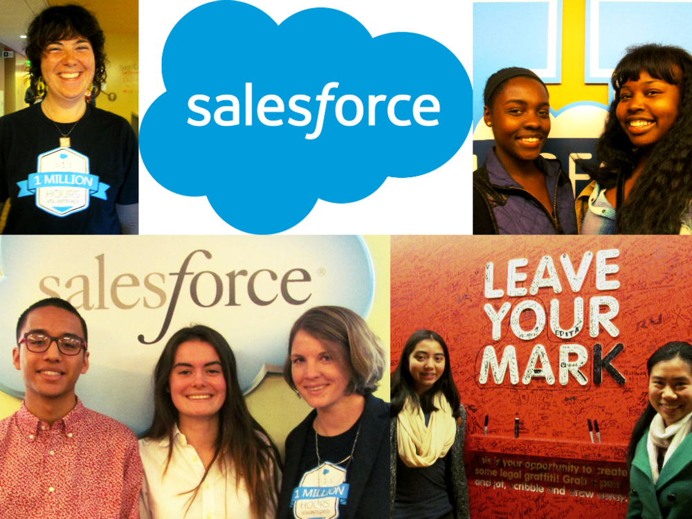 Salesforce volunteers led by Ann Weebly at the TeenTechSF GLOBAL Youth Summit