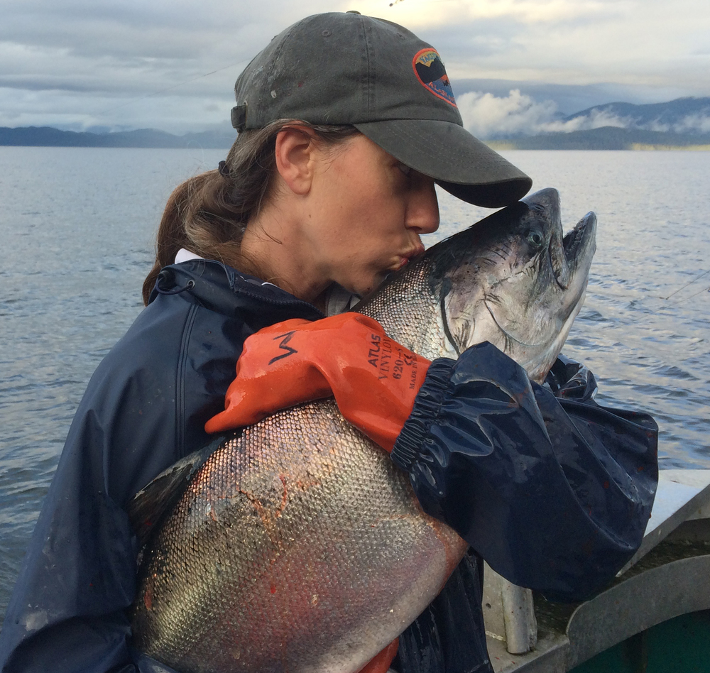 All Alaskans, including Malena, love king salmon.