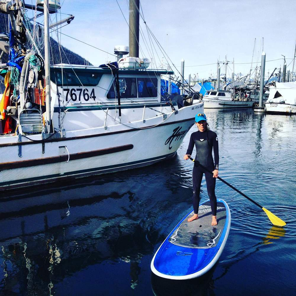 "The tidal changes in the ""narrows"" outside our harbor make for swift water if you hit them at the wrong time. Paddlers learn to time their outings with the tides to make sure they are working with the current, not against."