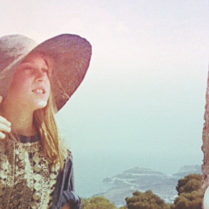 In a hat in the cyclades.  I was eleven.
