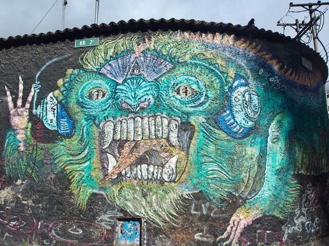 Dragon Graffiti Bogota, Colombia