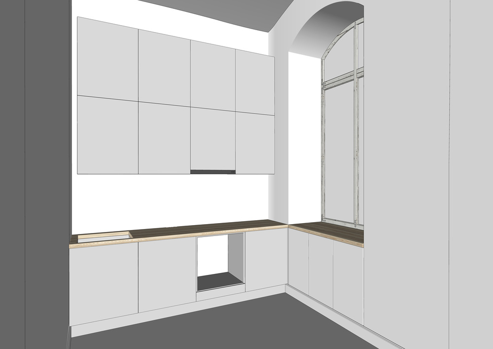 Base model in sketchup
