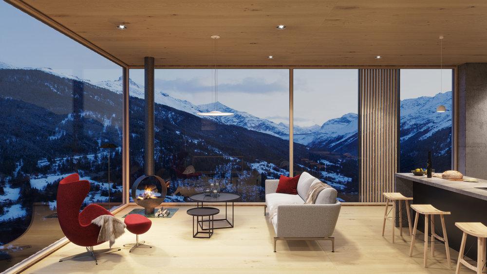 valais house studio 3d architect. Black Bedroom Furniture Sets. Home Design Ideas