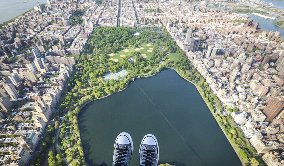 Fly NYON #ShoeSelfies - Aerial view over Central Park, NYC