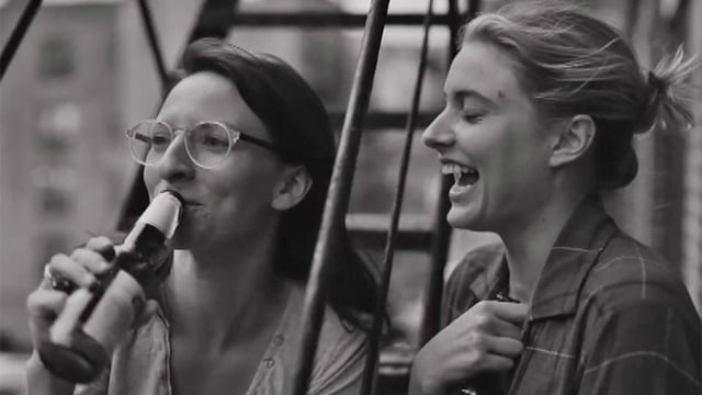 Mickey Sumner (left) and Greta Gerwig in Frances Ha.