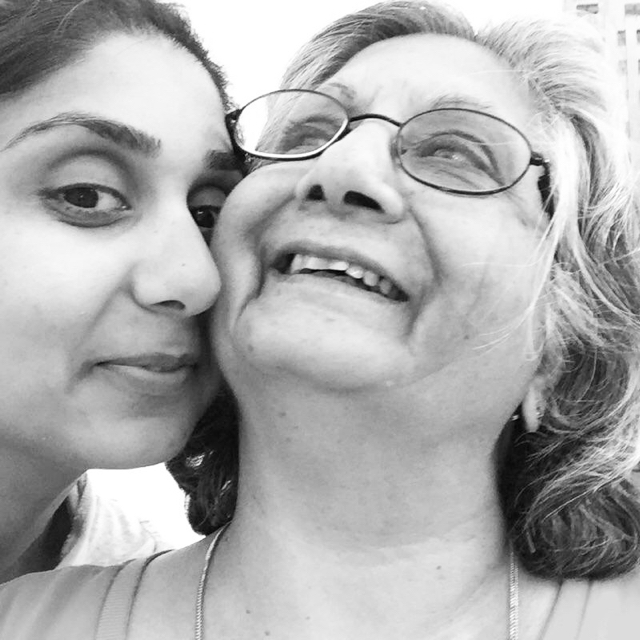 Kavita Mehra with her mom, Karni