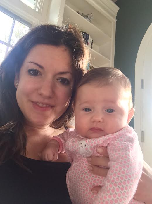 Amanda and her daughter, 3-month-old Ava.