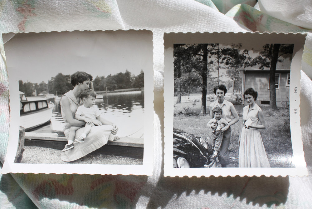 From left: my grandmother with my uncle Kim; my grandmother with her sister Bridget (left), who's holding Kim.