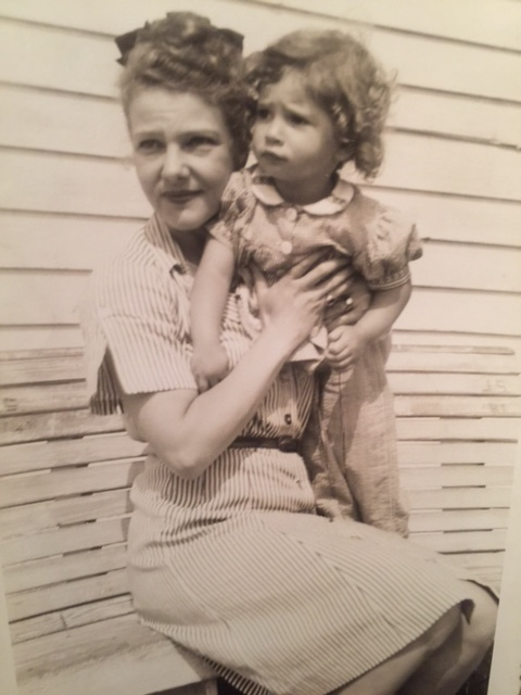 With her mother, Elissa Landi, when Caroline was about 2 years old.