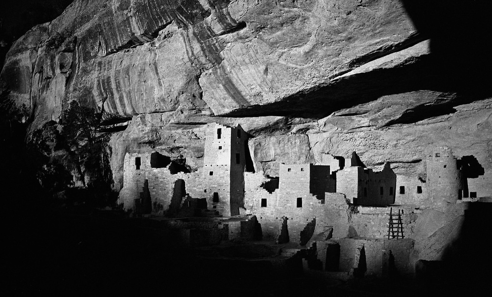 Evening at Cliff Palace, Mesa Verde National Park.