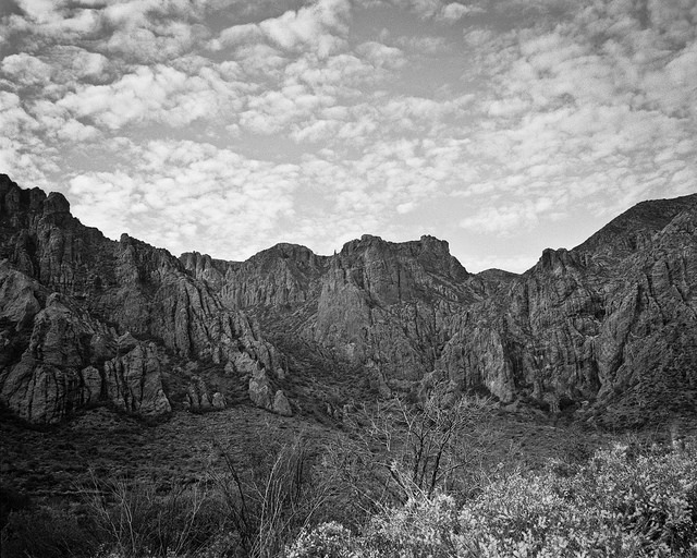 The Chisos Basin en-route to the Window. Mamiya RZ67, Kodak Tri-x film.