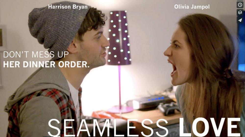 Poster for  Seamless Love , an award-winning short by Danielle Orbach.