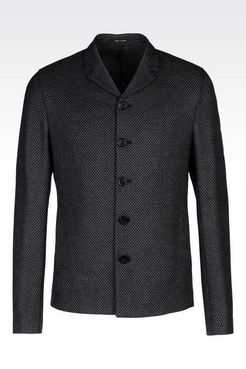 JACKET IN MESH EFFECT CASHMERE WOOL $ 995.00