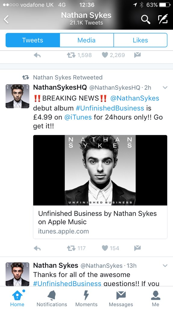 Global are hoping a last minute sale on Nathan's album will help push him into the Top Ten tomorrow.