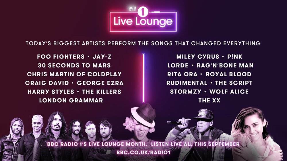 Radio 1's Live Lounge Month is coming