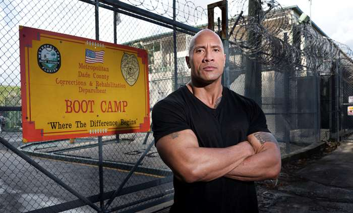 The Rock. In a hard place.