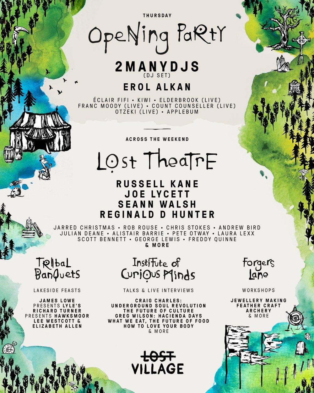 Lost Village Festival comedy lineup