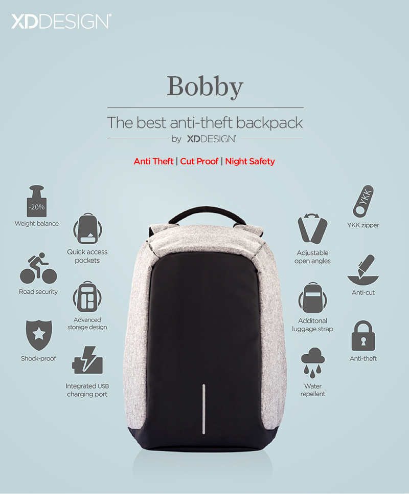 XD bobby anti theft backpack