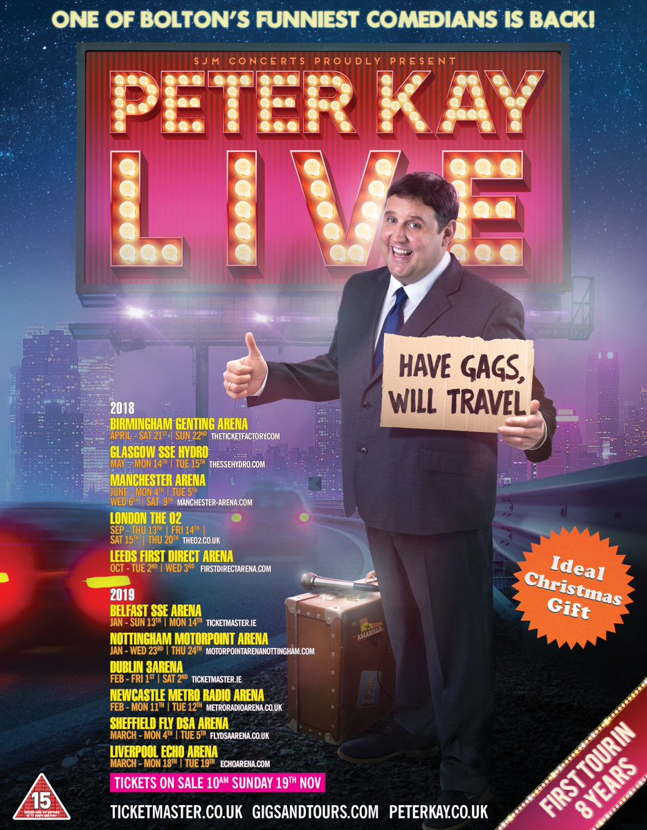 peter kay 2018 tour tickets